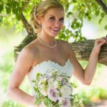 Blush teardrop bouquet, cascading bridal bouquet
