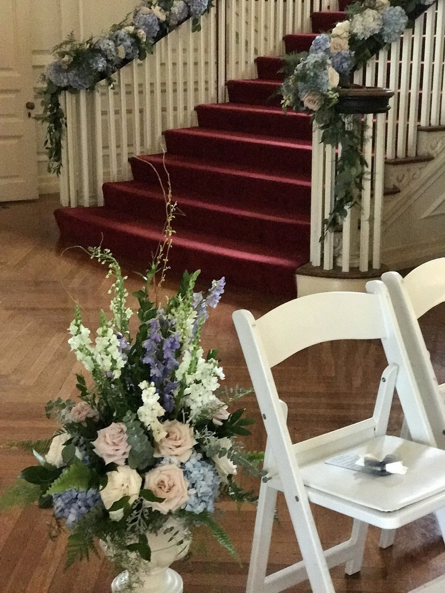 ceremony decor at Allerton Mansion