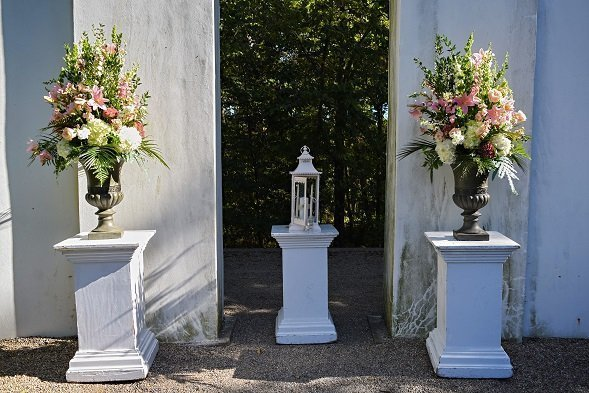 Sunken Garden Allerton Mansion wedding