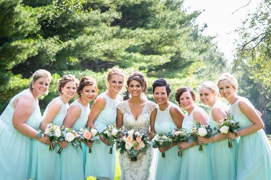 Mint Green Bridesmaid's Dresses