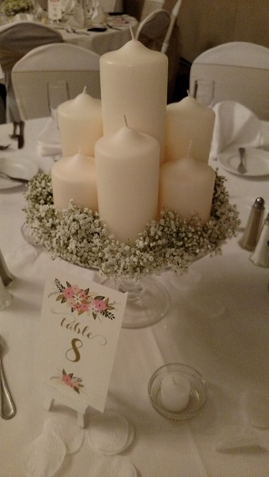 Candles & Baby's breath
