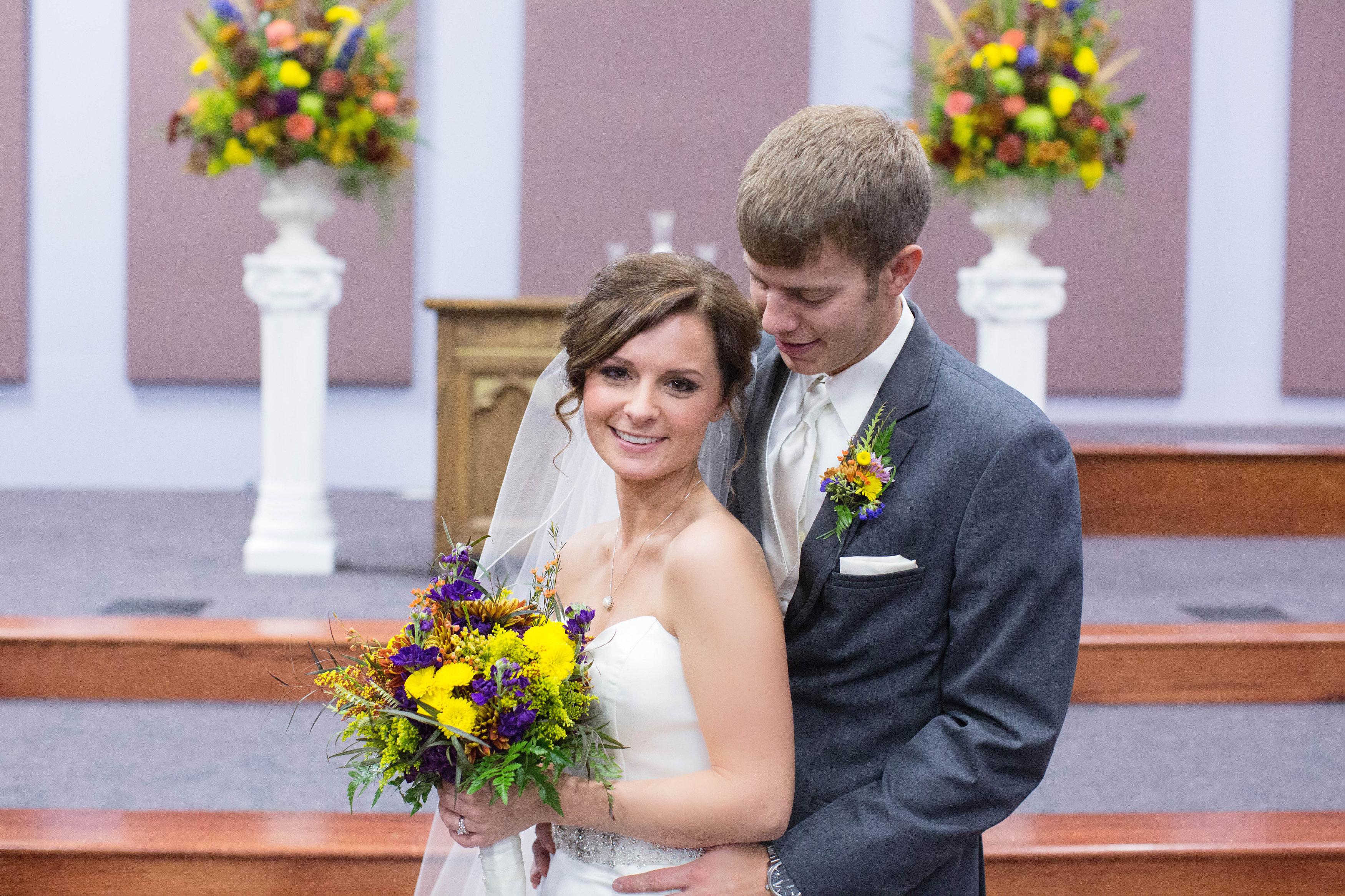 Yellow & Purple Wedding Flowers