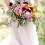 bridal bouquet with autumn blooms