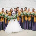 Purple & gold wedding