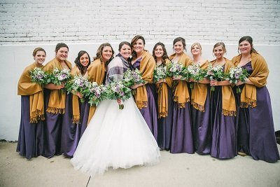 Purple & gold wedding