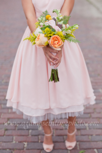 Juliet garden rose wedding bouquet