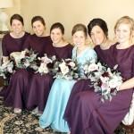 Plum bridesmaids dresses