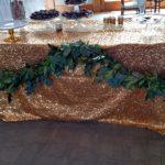 Dessert table garland, mixed green garland
