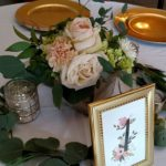 Garden style centerpiece, wood box centerpiece, blush rose centerpiece
