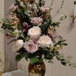 Blush altar arrangement