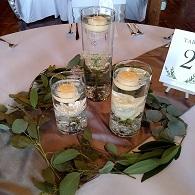 Submerged flower, floating candle