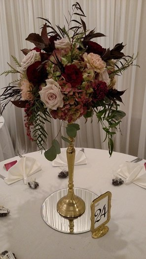 Blush & Wine Tall Centerpiece
