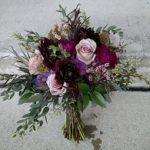 wedding bouquet, burgundy dahlia, burgundy bouquet