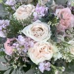 pastel blooms for spring bridal bouquet