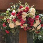 Wedding backdrop floral spray