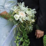 cascading bridal bouquet, bridal bouquet, wedding bouquet, lily of the valley bouquet