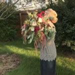 wedding bouquet, garden style