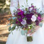 Purple wedding bouquet,