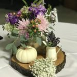 centerpiece arrangement with lavender flowers