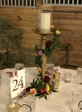 Candle holder garland