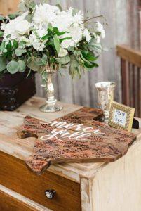 Fairtyale Compote Arrangement, guest book table
