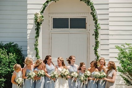 church door garland, wedding entrance decor