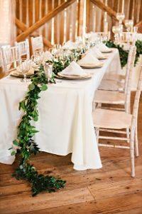 table garland, garland