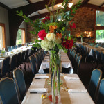 tall vase design wedding reception