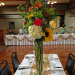 tall sunflower centerpiece