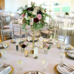tall centerpiece, gold stand centerpiece