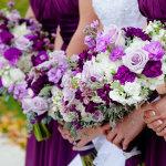 purple bridal bouqet