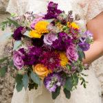 Plum flowers, wedding bouquet, fall bouquet
