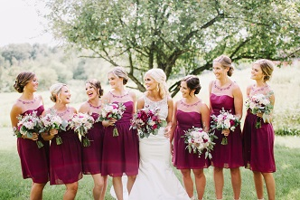 Berry colored dresses
