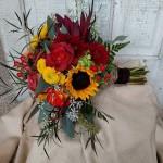 Autumn wedding bouquet, sunflower bouquet, autumn wedding flowers