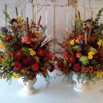 Autumn wedding, autumn altar arrangments