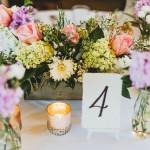 reception centerpiece, accent decor woodland box, garden style reception centerpiece