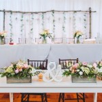 Bride & Groom table, wedding backdrop, rustic wedding decor