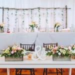 Bride & Groom table, wedding backdrop, rustic wedding decor