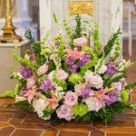 altar arrangement, altar flowers