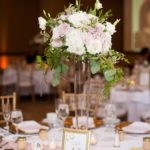 tall centerpiece, reception decor