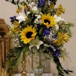 Sunflower wedding, Altar Arrangement, Sunflower Altar Arrangement