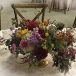 reception table centerpiece for autumn wedding