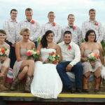 coral rose wedding bouquet