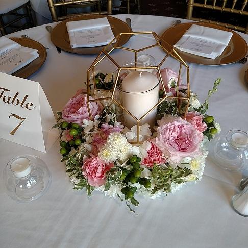 floral ring candleholder