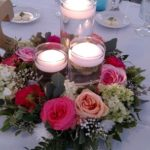 Floral candle ring