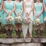 pastel wedding bouquet, cowboy boots wedding