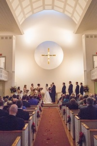 Evelyn Chapel IWU wedding