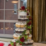 floral cascade cupcake stand