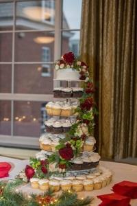 floral cascade cupcake stand
