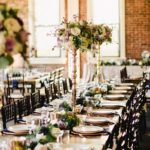 tall centerpieces, elegant reception, wedding decor